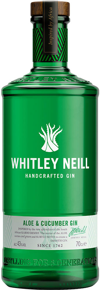 Whitley Neill - Aloe and Cucumber Gin 70cl Bottle