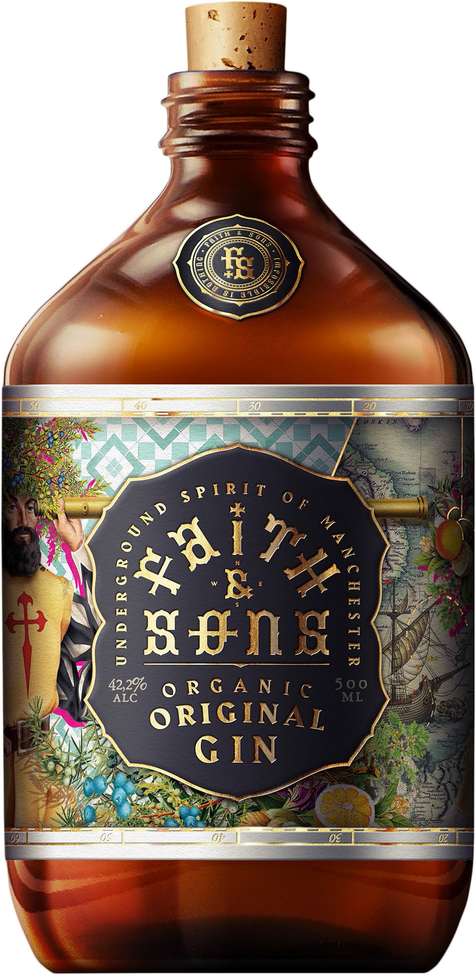 Faith & Sons - Organic Original Gin 50cl Bottle