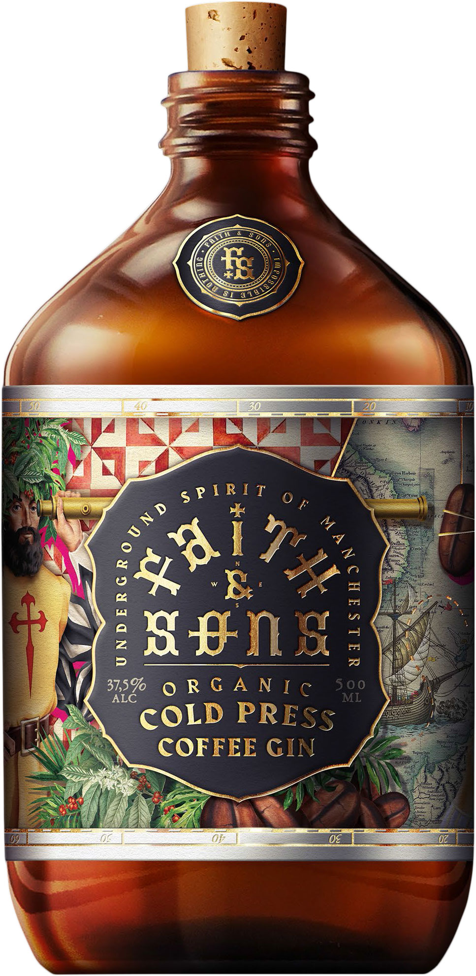 Faith & Sons - Organic Cold Press Coffee Gin 50cl Bottle