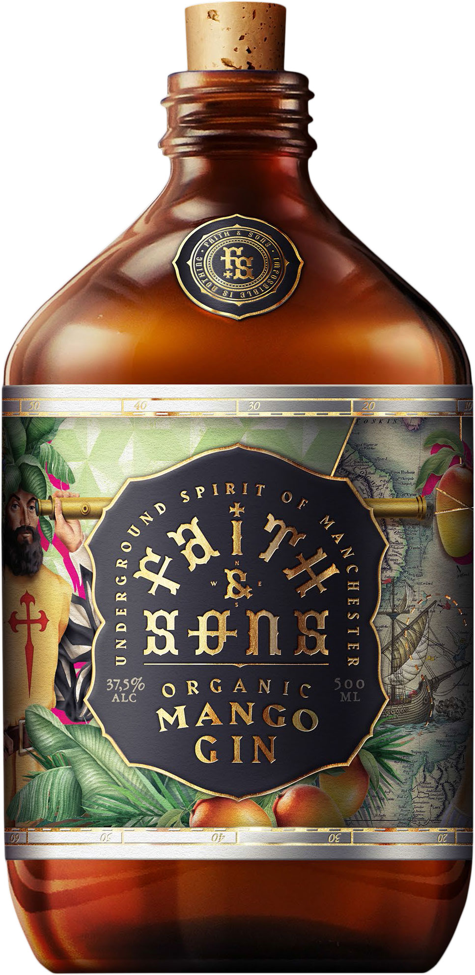 Faith & Sons - Organic Mango Gin 50cl Bottle