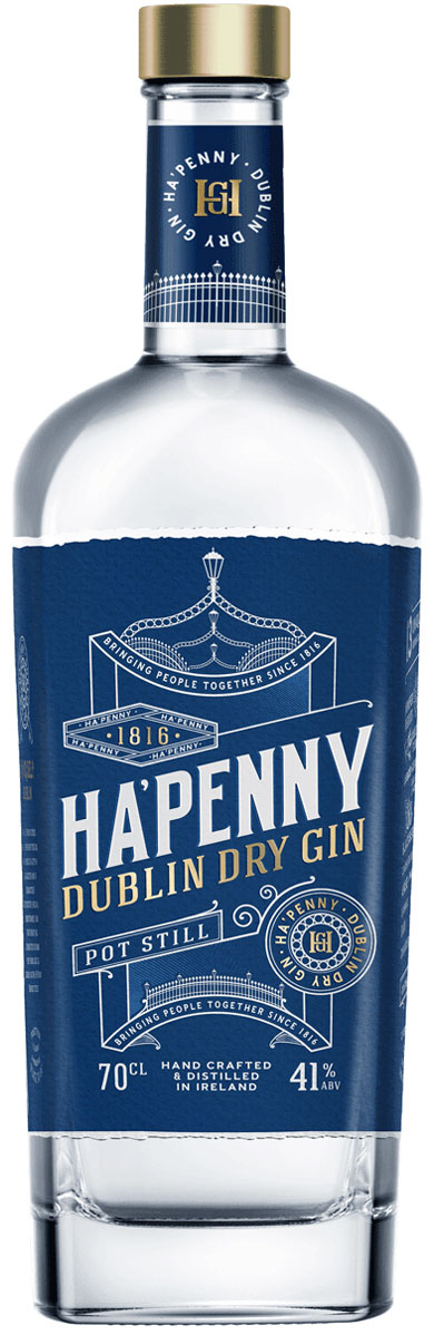 Ha'Penny - Irish Gin 70cl Bottle