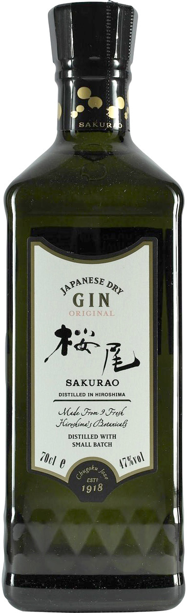 Sakurao - Japanese Dry Gin Original 70cl Bottle