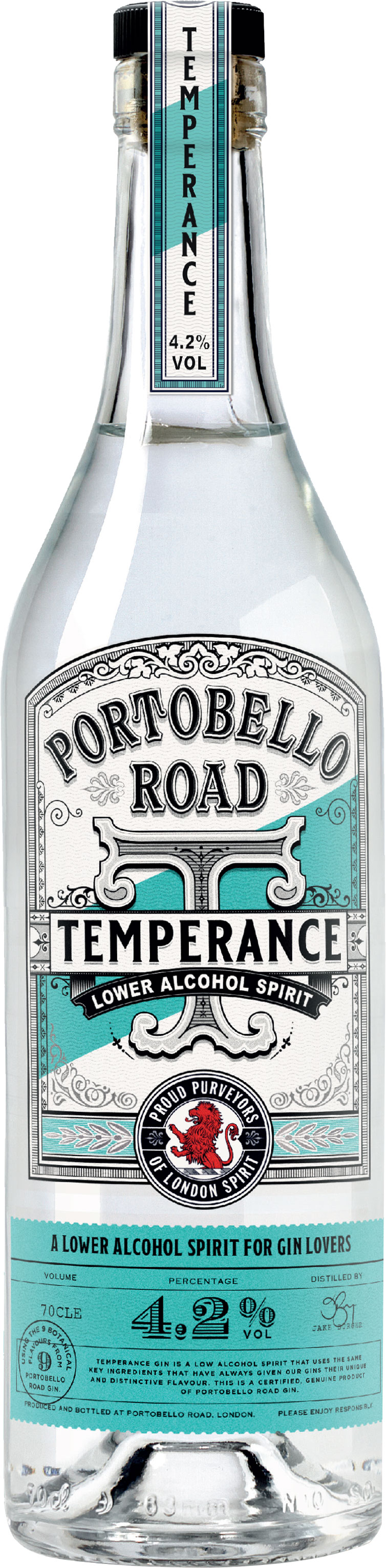 Portobello Road - Temperance Gin 70cl Bottle