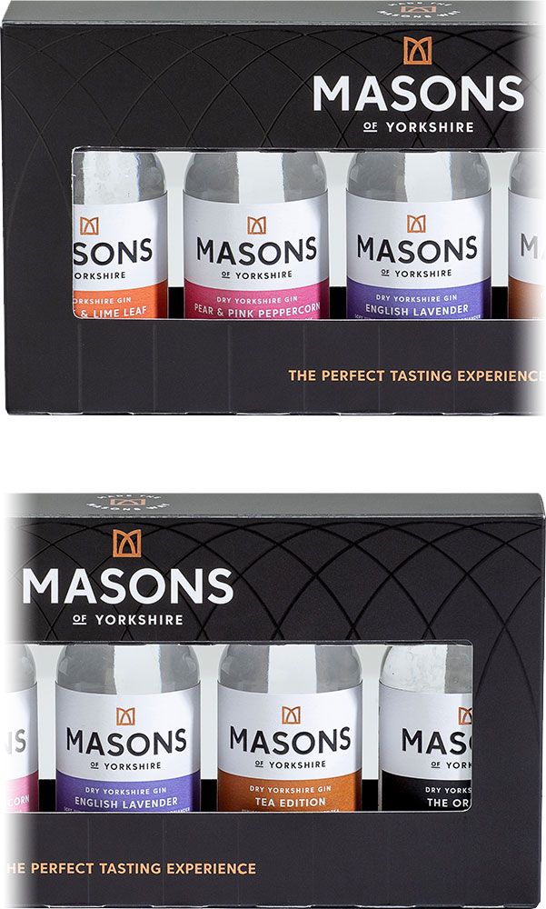 Masons - Yorkshire Gin Taste Experience Gift Set 6x 5cl Miniatures
