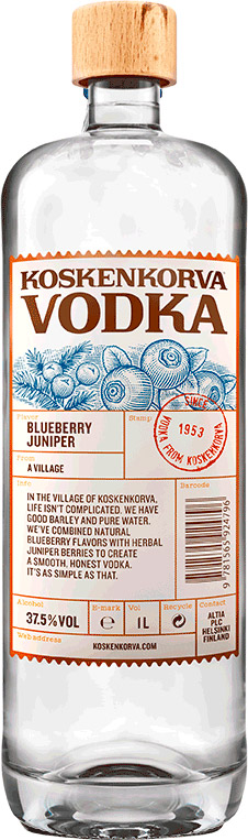 Koskenkorva - Blueberry Juniper Vodka 70cl Bottle