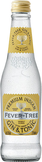 Fever Tree - Premixed Indian Gin And Tonic 24x 275ml Bottles