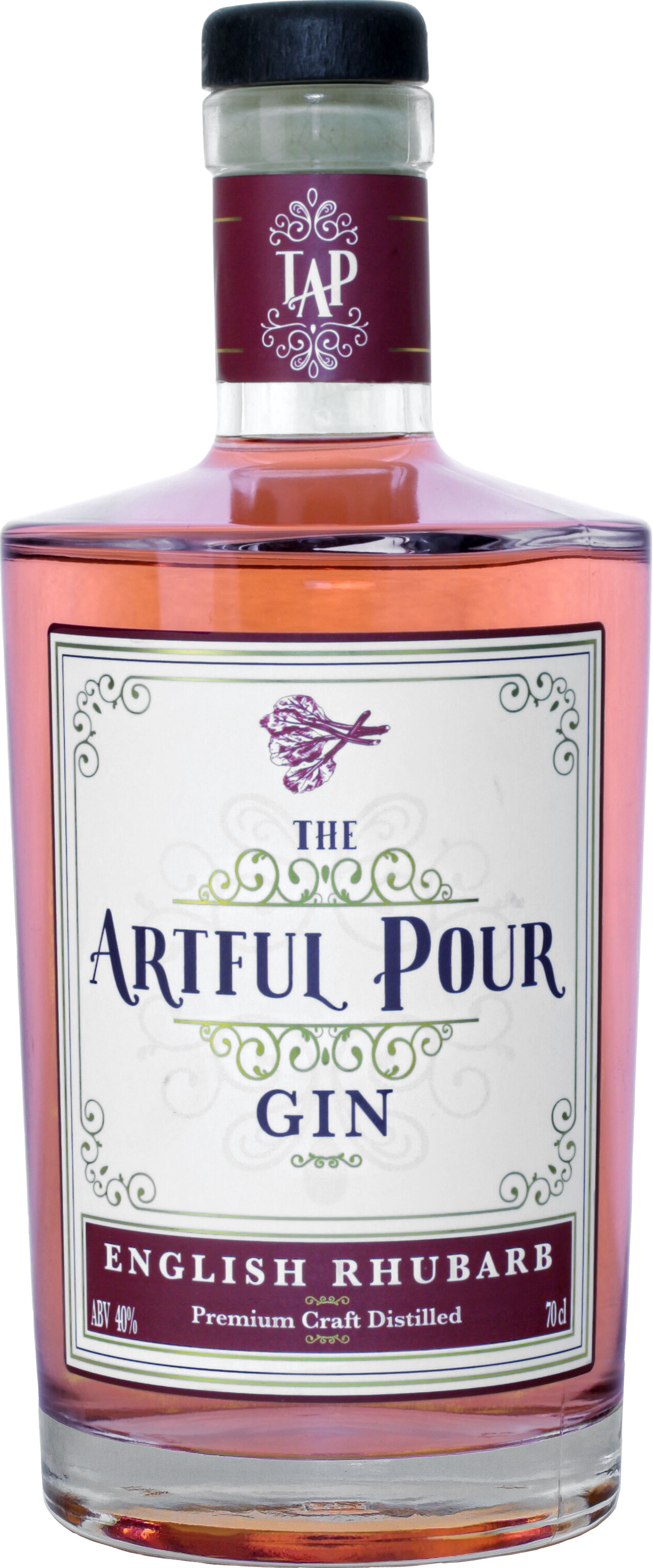 The Artful Pour - English Rhubarb Gin 70cl Bottle