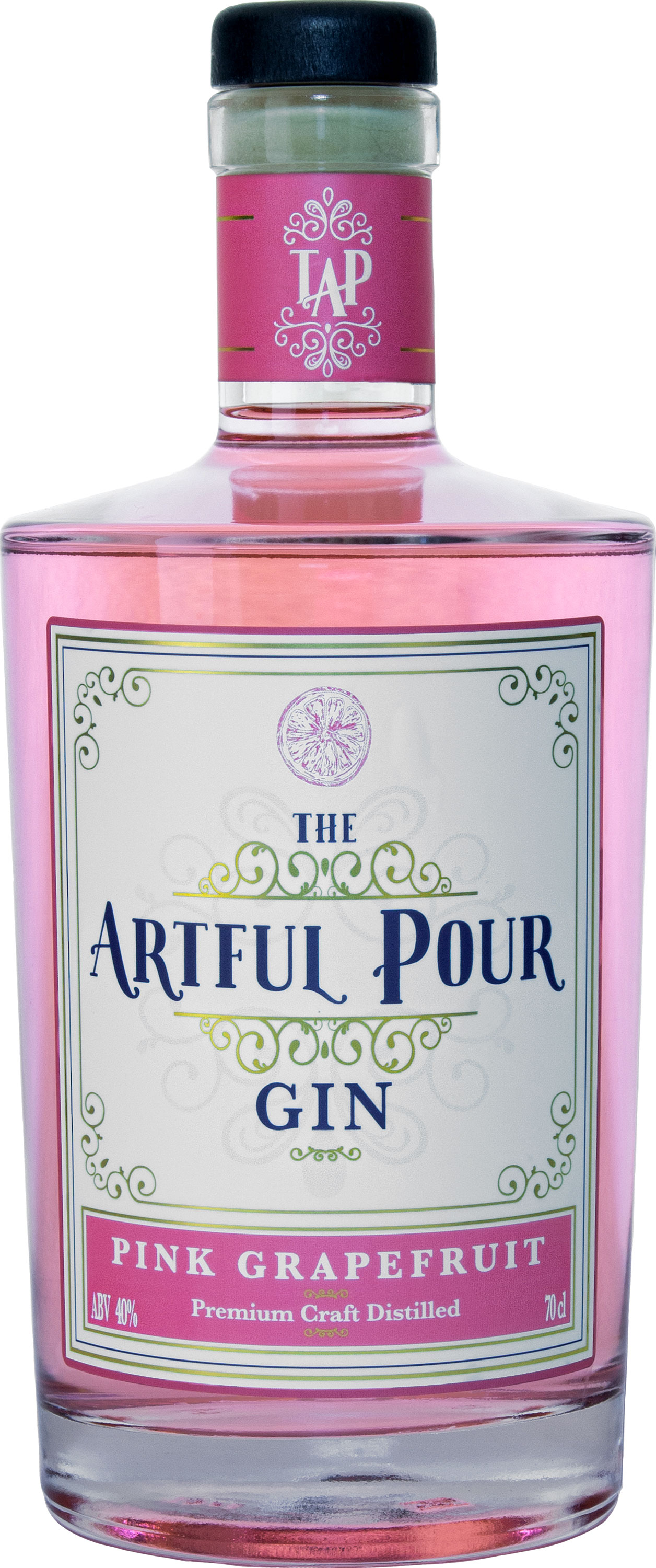 The Artful Pour - Pink Grapefruit Gin 70cl Bottle