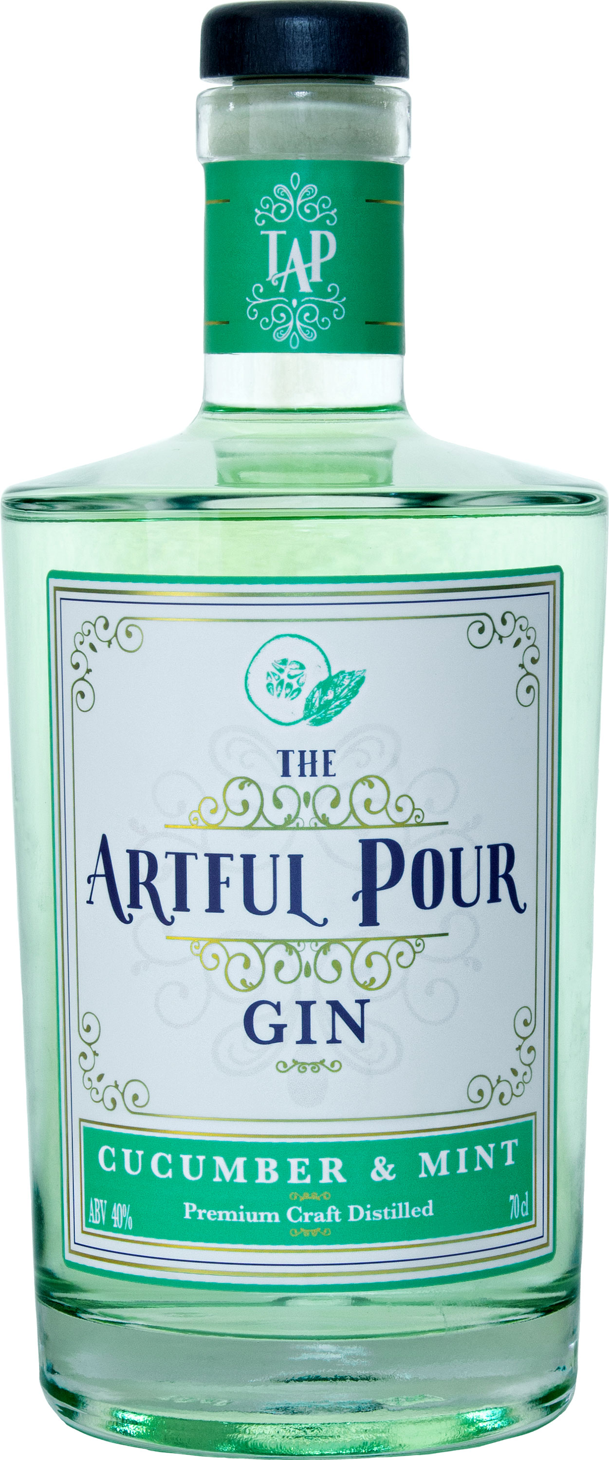 The Artful Pour - Cucumber & Mint Gin 70cl Bottle