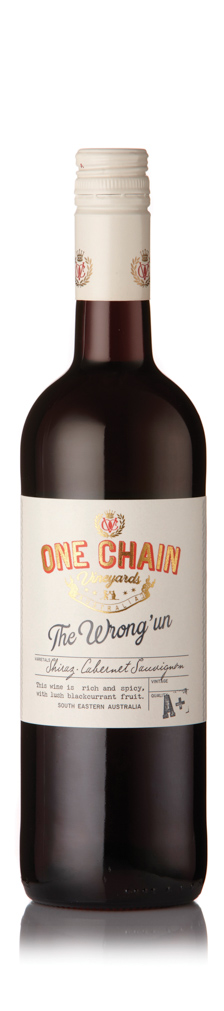 One Chain Vineyards - The Wrong Un Shiraz Cabernet South Eastern Australia 2017 12x 75cl Bottles