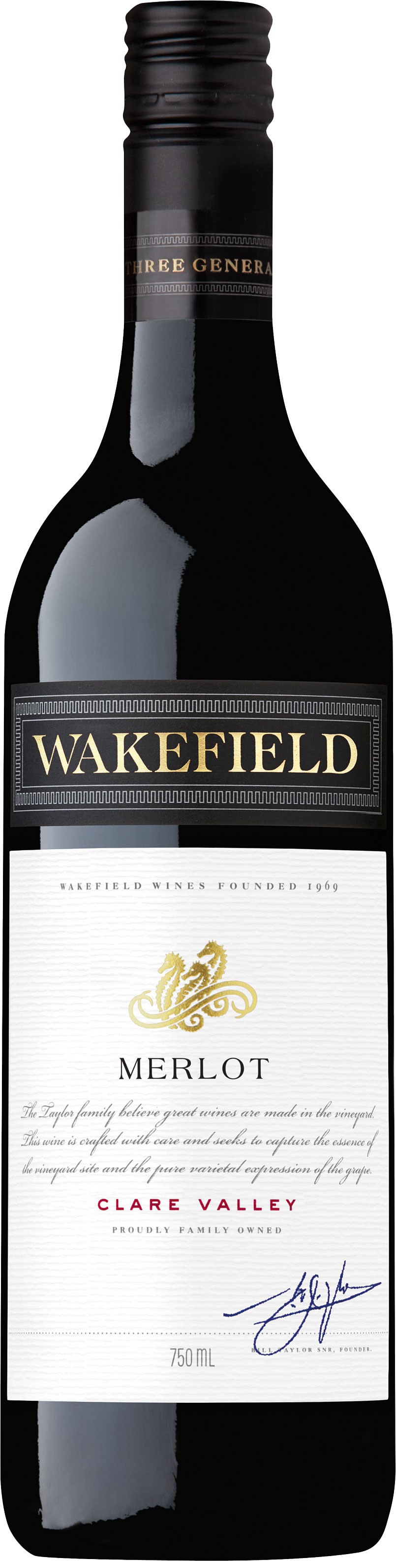 Wakefield Wines - Wakefield Estate Merlot 2016 6x 75cl Bottles