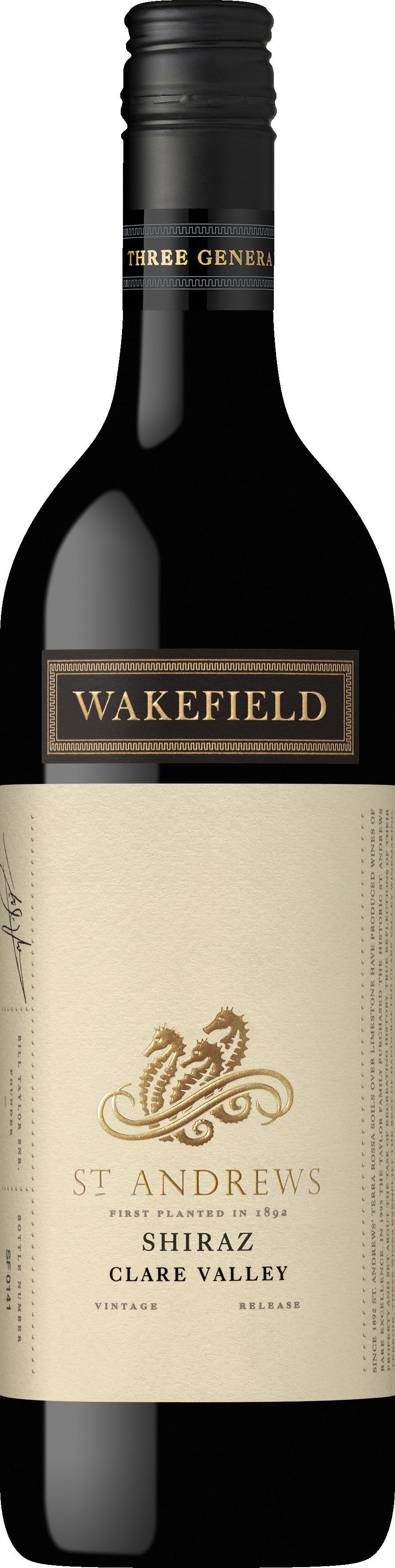 Wakefield Wines - St Andrews Shiraz 2014 6x 75cl Bottles