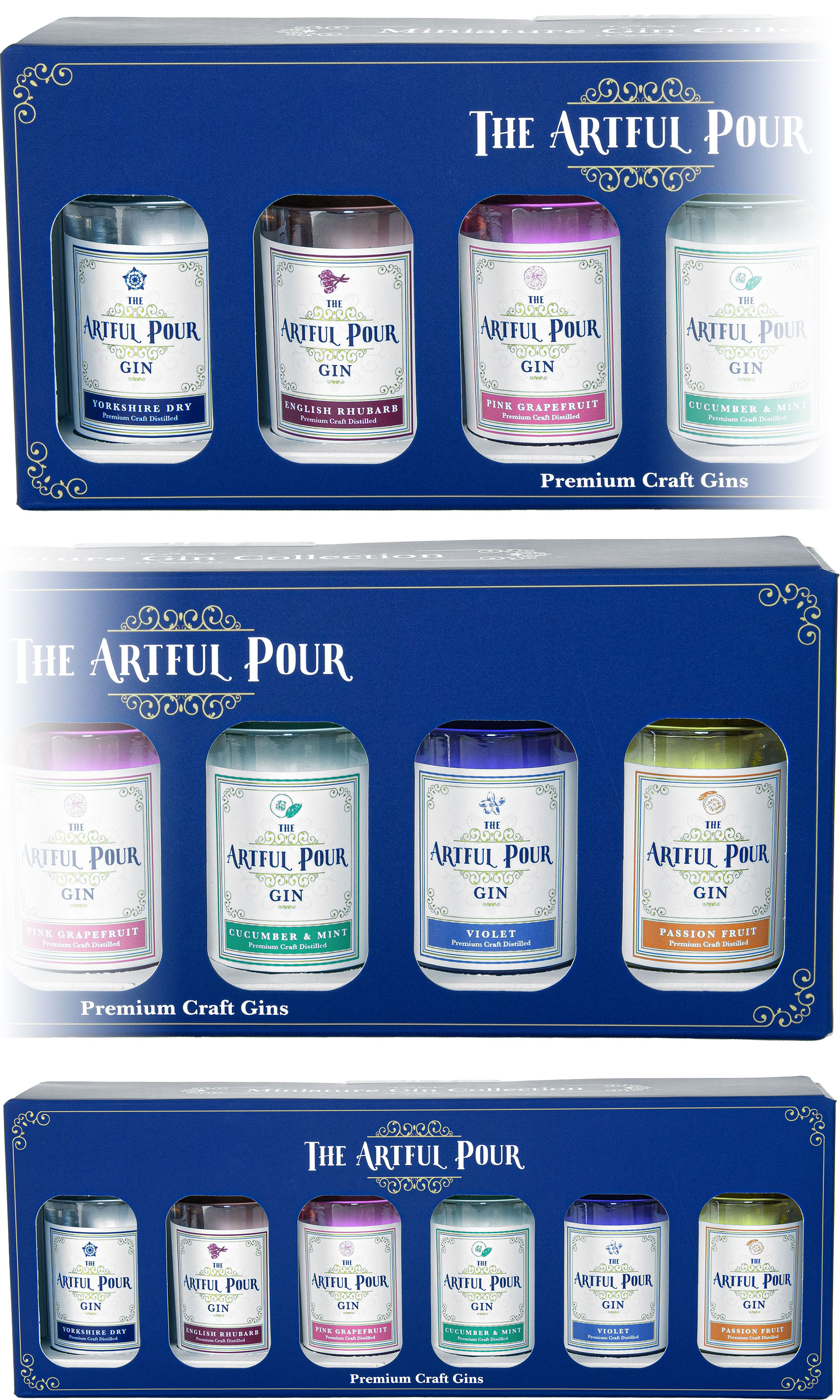 The Artful Pour - Miniature Gin Collection 6x 5cl Miniatures