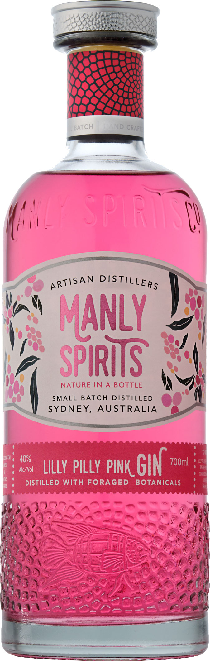 Manly Spirits - Lilly Pilly Pink Gin 70cl Bottle