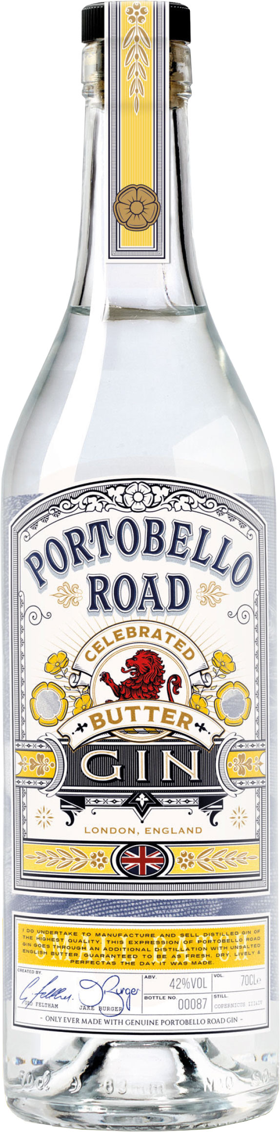 Portobello Road - Celebrated Butter Gin 70cl Bottle