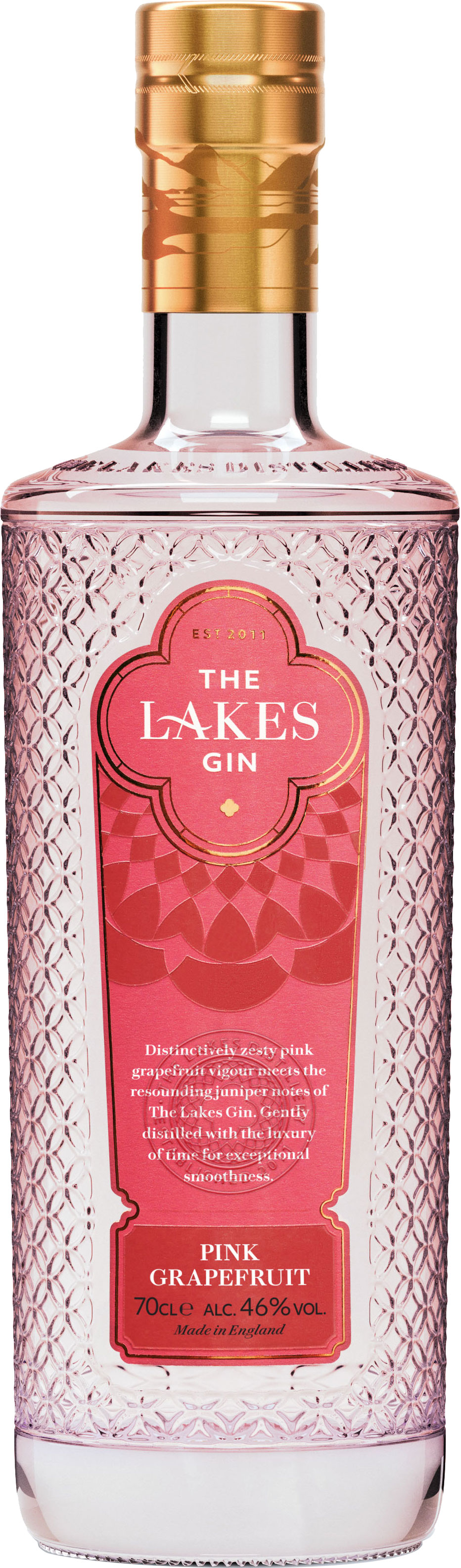 The Lakes - Pink Grapefruit Gin 70cl Bottle