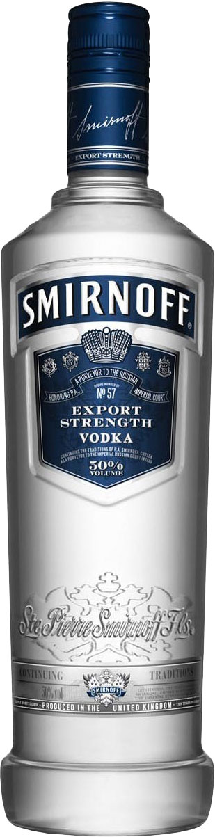 Smirnoff - Blue 1 Litre Bottle