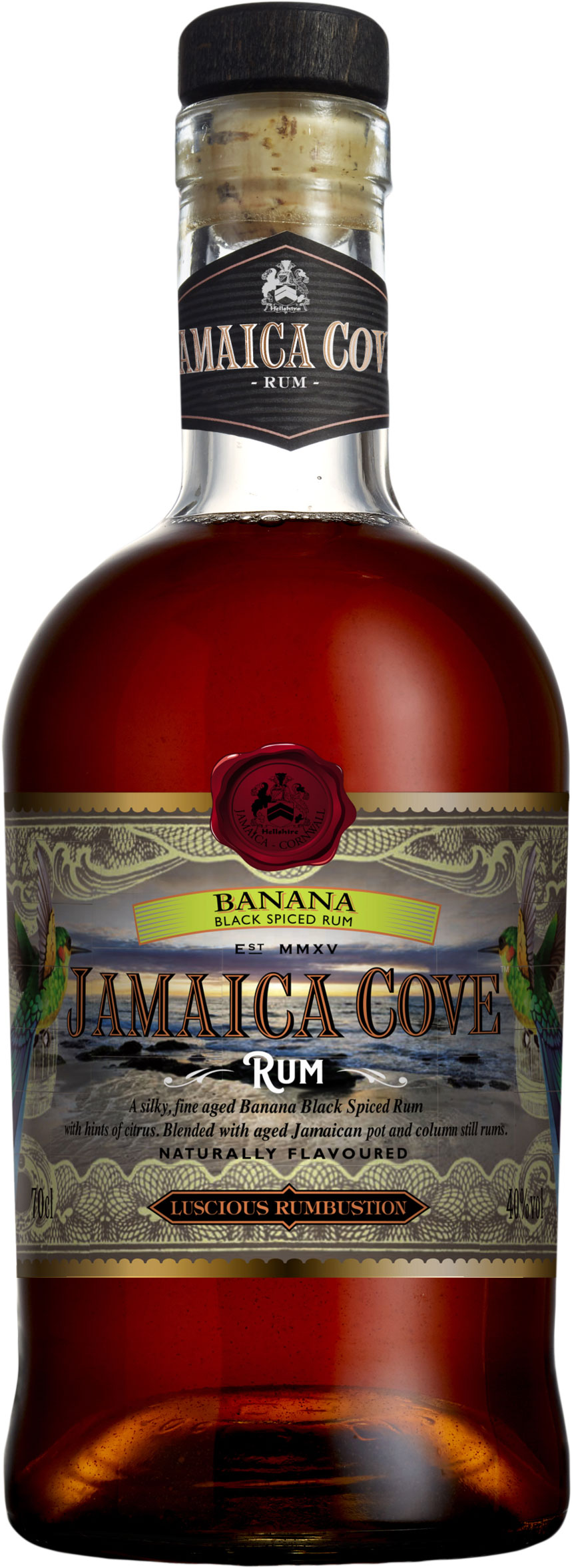 Jamaica Cove - Banana Black Spiced Rum 70cl Bottle