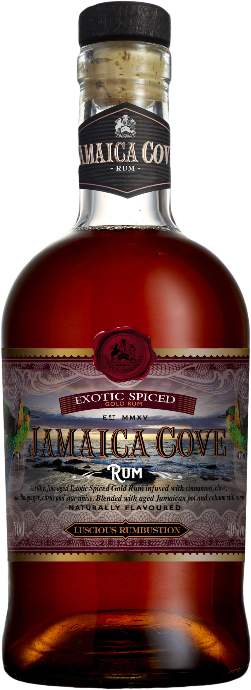Jamaica Cove - Exotic Spiced Gold Rum 70cl Bottle
