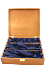Hardwood, Silk Lined Box - 3 Bottle Triple Gift Box