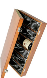 Hardwood, Silk Lined Box - 6 Bottle Six Bottle Gift Box