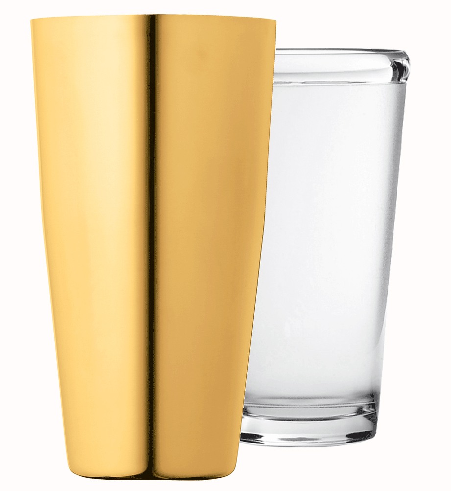Image of Urban Bar - 17oz Gold Plated Boston Shaker Set Accessories