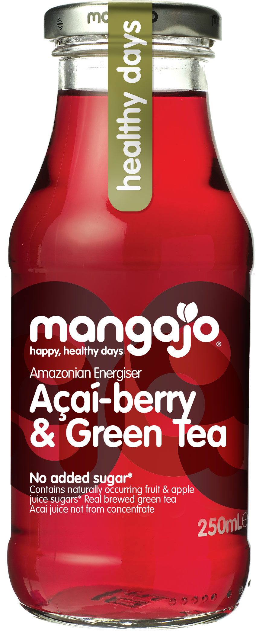 Mangajo - Acai Berry & Green Tea 250ml Bottle