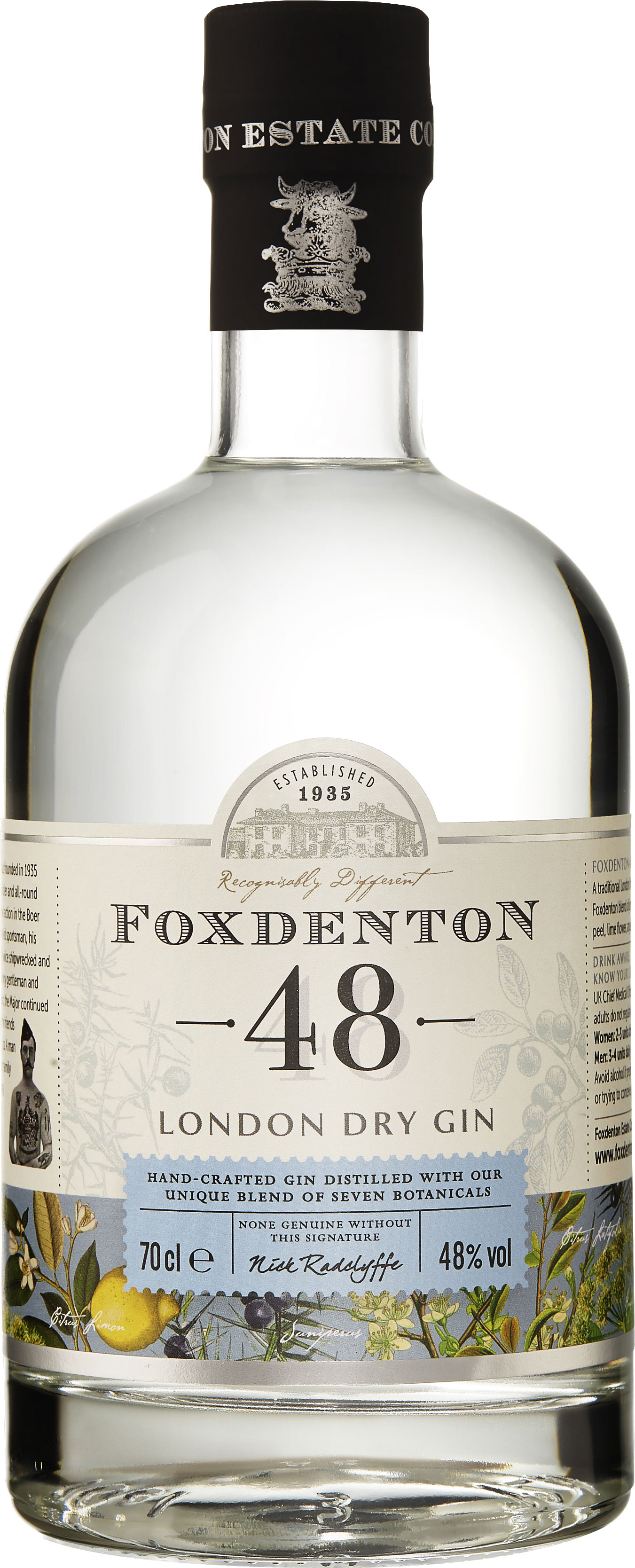 Foxdenton - London Dry Gin 48% 70cl Bottle