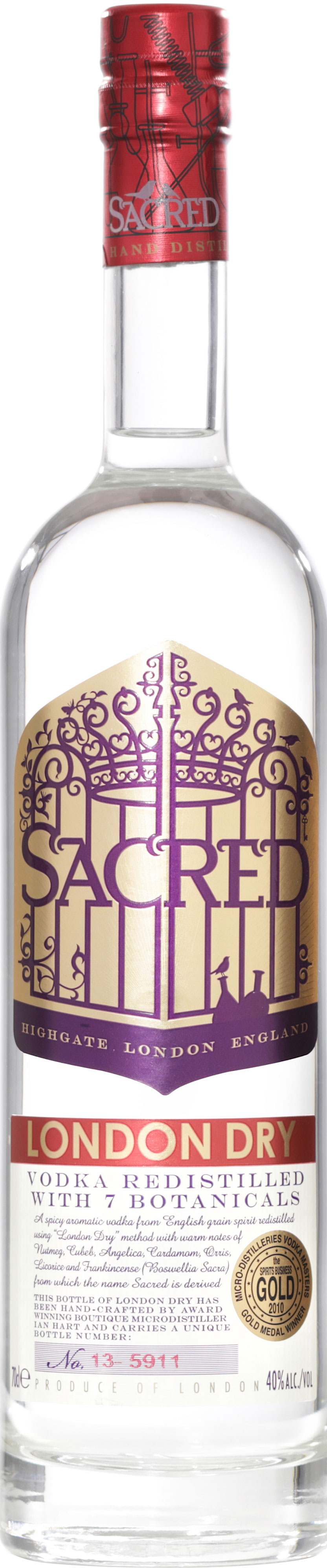 Sacred - London Dry Vodka 70cl Bottle