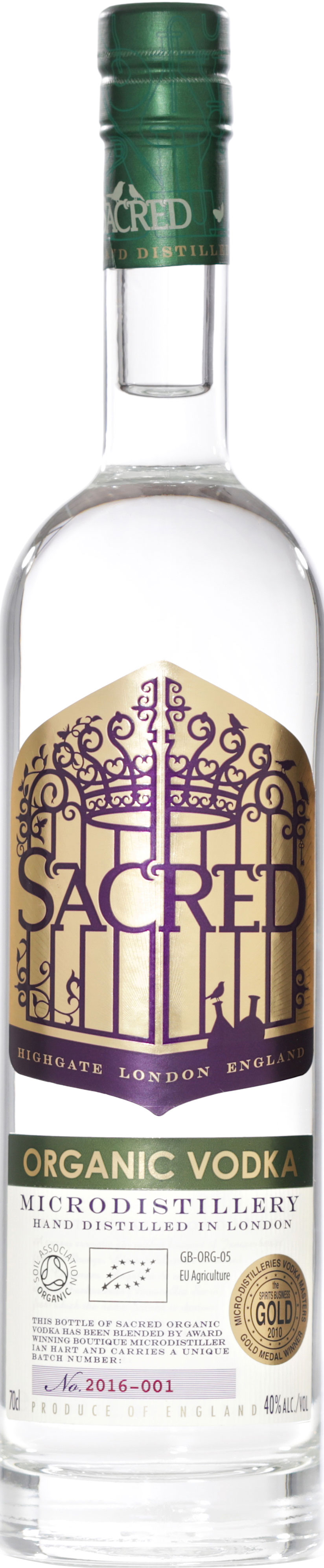 Sacred - Organic Vodka 70cl Bottle