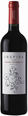 Inspira - Cabernet Sauvignon Reserva 2013 75cl Bottle at The Drink Shop